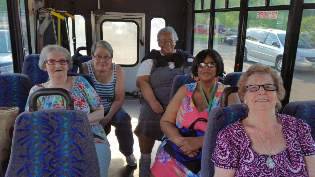 older adults in dakota county riding darts bus in west st paul