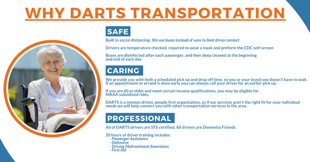DARTS provides safe, caring and professional rides for Seniors in Dakota County and the Greater Minneapolis Area